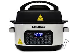 Emerald <b>14 in 1 Multi</b> Cooker & Air Fryer Duo Stainless Steel SM ...
