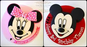 Mickey And Minnie Mouse Joint Birthday Cakes Cake By Leah