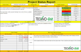 Project Status Report Template Excel Project Management