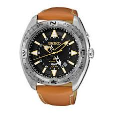 kinetic men s watches for jewelry watches jcpenney seiko® prospex mens brown leather strap kinetic gmt chronograph sport watch sun055