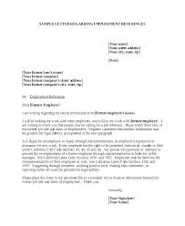 Free Reference Letter Sample Letters Template For Employee