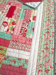 Floral Patchwork Quilt Patterns Floral Patchwork Cot Bedding Luv ... & Floral Patchwork Quilt Patterns Floral Patchwork Cot Bedding Luv The  Quilting Done In Red Big Stitch Adamdwight.com