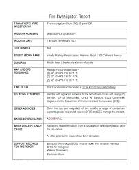 Free Incident Report Template Work Workplace Police Security