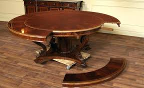round table that expands expandable round dining table plans round table expands seat 12