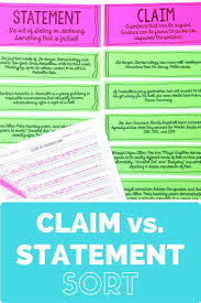 best argumentative writing ideas argumentative  claims vs statements sort activity for middle school argumentative writingpersuasive
