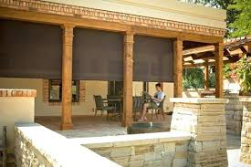 outdoor privacy shades. Exterior Shades Automated Outdoor Privacy For Screened Porch .