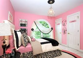 wonderful white dome windows frame with white spring bed added white black covers as well as mini chandelier as teenage girls pink bedroom ideas