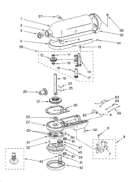 Case gearing and pla ary unit diagram parts list for model k5ss inside kitchenaid stand