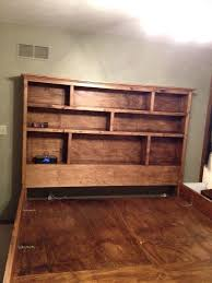 diy bookcase headboard solid wood king sized captains bed with full bookshelf headboard 8 pull out