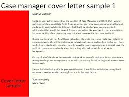 Cover Letter For Case Manager With No Experience Sample Cover Letter Management Kliqplan Com