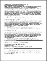 Non Profit Arts Management Sample Resume Certified Resume Writer