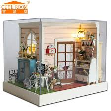 mini doll house furniture. 2016 new rushed home decoration crafts diy doll house wooden houses miniature dollhouse furniture kit room mini n