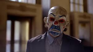 joker joaquin phoenix batman dc the dark knight bank heist joker mask