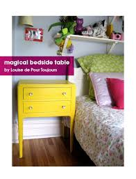 this is her magical yellow bedside table louise has done some wonderful upcycling in bright and vibrant colours bright coloured furniture