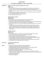 Energy Auditor Sample Resume Energy Auditor Resume Samples Velvet Jobs 1