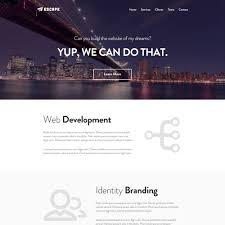 psd one page templates colorlib escape psd one page template
