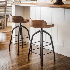 metal bar stools with wood seat. Bar Stools:Low Back Stool Decmode Round Metal Barstool With Wood Seat Hayneedle Stools