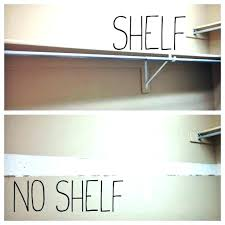 hang shelf from closet rod charming how to install closet rod how to install closet rod hang shelf from closet rod