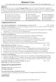 Mortgage Broker Resume Mortgage Broker Sample Resume Mortgage