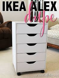ikea alex vanity 5 drawer dupe
