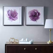 on set of 2 framed wall art with madison park signature purple ladies rose framed wall art 2 piece set