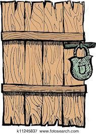 wooden door clipart. Beautiful Door Clip Art  Old Wooden Door Fotosearch Search Clipart Illustration  Posters Drawings Throughout Wooden Door Clipart O