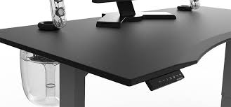 evodesk gaming desk lets you sit or stand as you frag