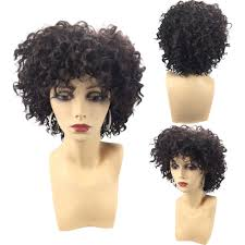 Amazoncom Weite Female Synthetic Afro Short Curly Hair Wigs For