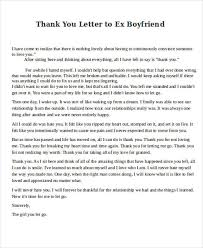 Thank You Letter to Ex Boyfriend
