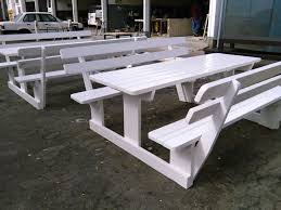 light ork benches white wooden benches west cost