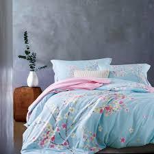 ivarose 2017 tencel cotton bedding set cherry blossoms luxury printed bed sets bed sheet queen king size duvet cover sets luxury comforter set bedding sets