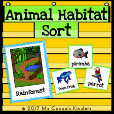 Habitat Chart Animal Habitat Sort With No Prep Cut And Paste Practice Pages