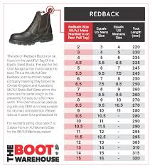 Boot Wide Size Chart Sizing Charts
