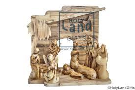 nativity set olive wood