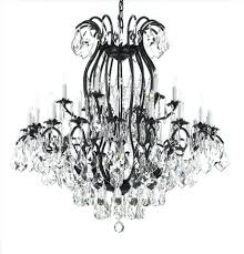 awesome wrought iron crystal chandelier and inspiring large crystal chandelier the