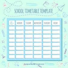 Class Timetable Template Unique Cute Class Schedule Template Intended For School Classroom Preschool