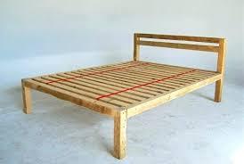 simple wooden bed frame homemade headboards easy platform plans woodwork making wood headboard diy