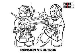 Disegno Da Colorare Per Bambini Lego Iron Man Vs Ultron Iron Man