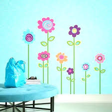 wall art decals flowers daisy wall decals flower wall stickers flower stripe giant wall decals for