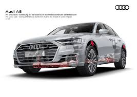 2018 audi 8l.  2018 this image depicts the audi a8u0027s active suspension raising car 8  centimeters because of a possible side collision provided by audi to 2018 audi 8l