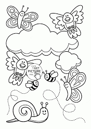 Spring Coloring Pages For Kids Elegant Perfect Design Printable