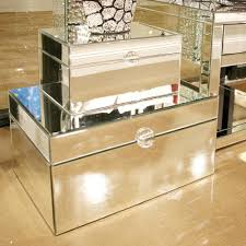 Decorative Display Boxes Small Clear Mirrored Decorative Box With Acrylic Handle100 18