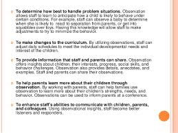 sample child observation summary co sample child observation summary