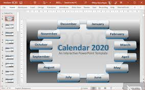 For Powerpoint 2020 Interactive Calendar Powerpoint Template