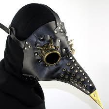 <b>Steampunk Plague</b> Doctor Mask Beak Mask <b>Steampunk</b> Black PU ...