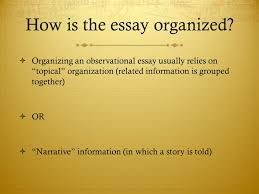 observational writing ppt video online how is the essay organized