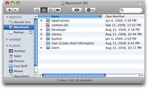 Mac Finder How Do I Restore My Applications Shortcut In Mac Finder
