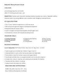 Professional Nanny Resume Sample Babysitter Job Description Resume Nanny Resume Sample Babysitter Job