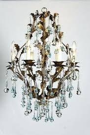 antique chandelier with colored drops chandeliers new orleans