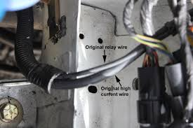 battery wiring the smaller wire push on lug as was used originally runs the starter solenoid coil it is switched 12 volts from the start relay